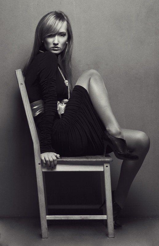 девушка, портрет, ч/б, глаза, цифра ***photo preview