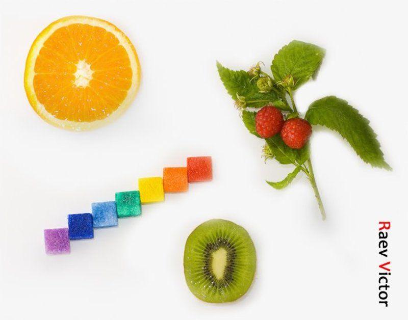 издательство, радуга, апельсин, малина, растение, зелень, сахар, краски, цвета, радуги, тоша, киви, сочный Радуга и настроение =)photo preview