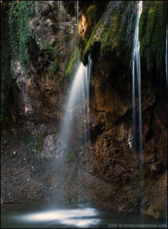 водопад, камни, крым, ручей Среди камнейphoto preview