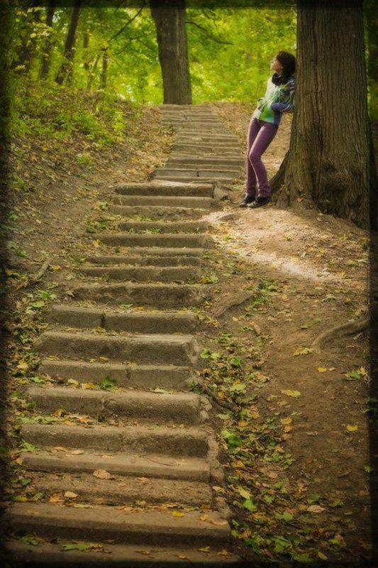лестница, лес, волшебство, осень Autumn Magicphoto preview