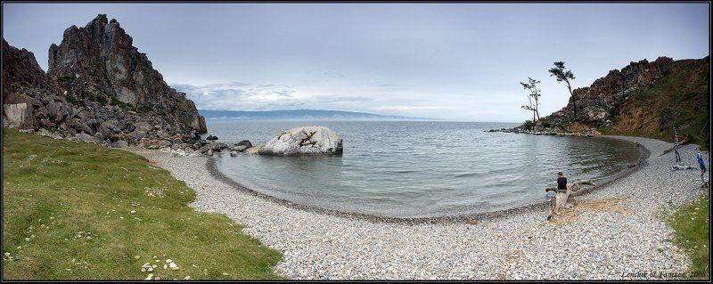 байкал, озеро, ольхон, остров, скала, шаманка, мыс бурхан, залив, девушка, вода, lenhik&fanizzz, faniz Байкал. Слушая пение моряphoto preview