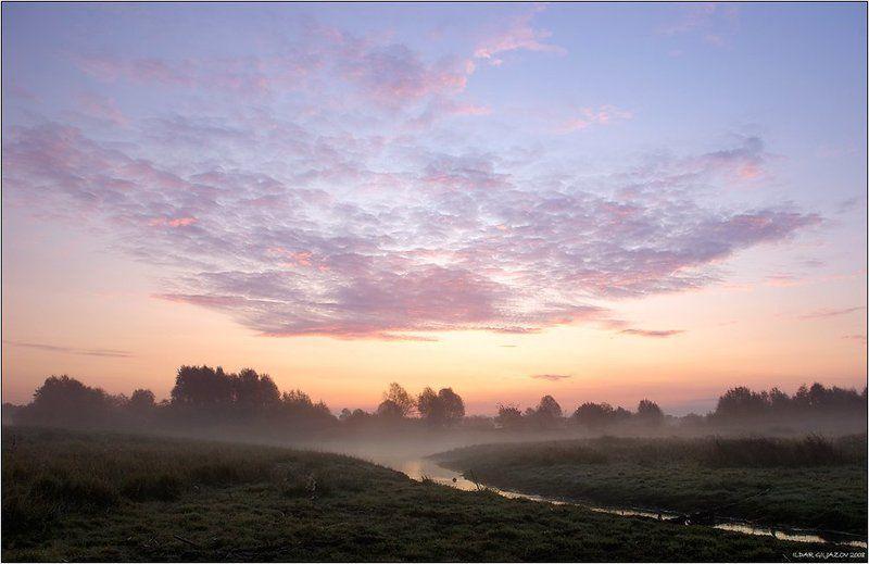 рассвет, туман, речка, утро ***photo preview
