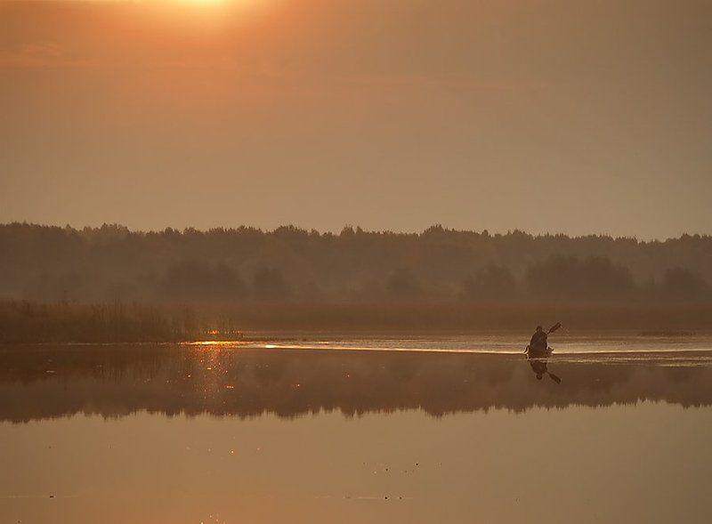 лодка, рассвет ***photo preview