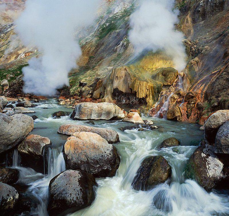 долина, гейзеров, горшков, gorshkov Малахитовый Гротphoto preview