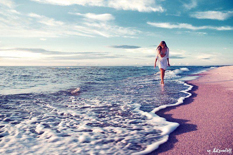 девушка, solitude, море, закат, прогулка *небомореоблака*photo preview
