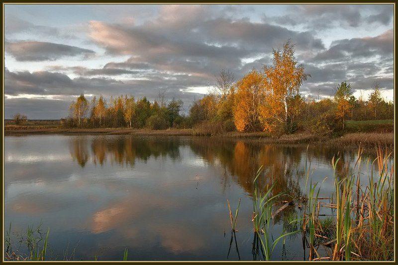 осень, пруд, вечер Осенним вечеромphoto preview
