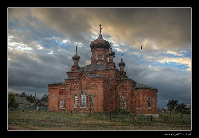 церковь, ташкирмень, атабаево ...возвышается крест...photo preview