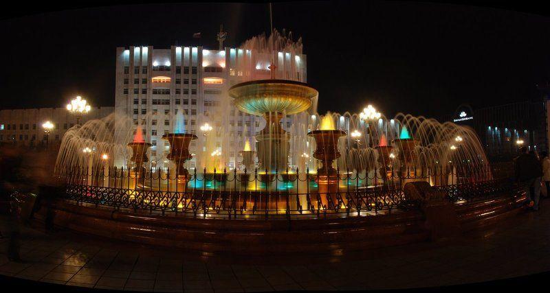 фонтан, ночь, хабаровск Центральня площадьphoto preview