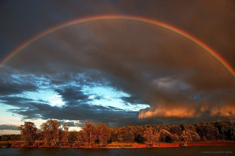 радуга, закат, река, ильдар, гилязов ***photo preview