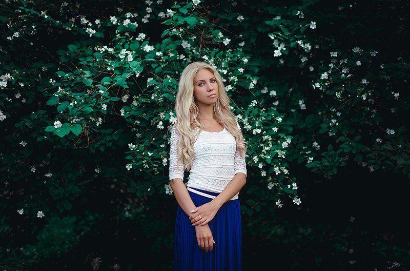 Лето, Портрет, Цветы photo preview