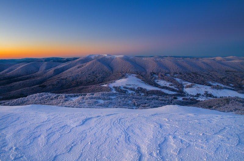 winter, Bieszczady, mountains, snow, Poland, morning Winter in Bieszczady National Parkphoto preview