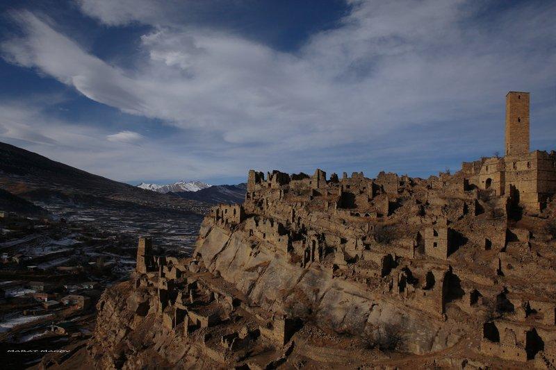 аул,кахиб,старый кахиб,горы,вершины,пейзаж,небо,деревья,дагестан,природа Старый Кахиб..photo preview