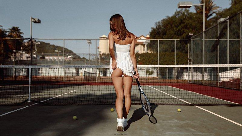 tennis girl racket court the beauty dress Tennis girlphoto preview