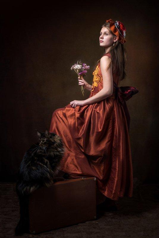 фотокартина, женский портрет, жанровый портрет, художественный портрет Полианнаphoto preview