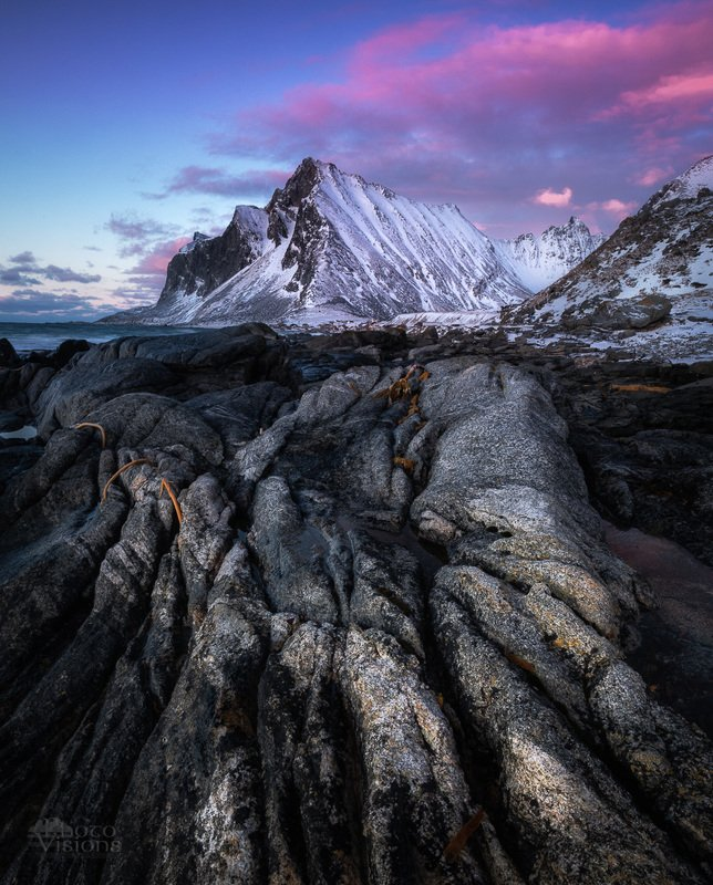 lofoten,shoreline,rocks,winter,sunset,wintertime,norway,norwegian, Unreal landscapephoto preview