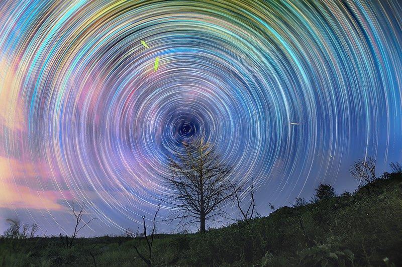 star trail Psicodelic nightsphoto preview