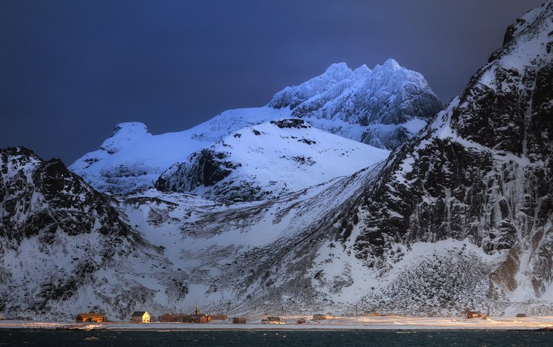 lofoten,norway,norwegian,island,mountains,flakstad,winter,light,sunset,snow, Epic Islandphoto preview