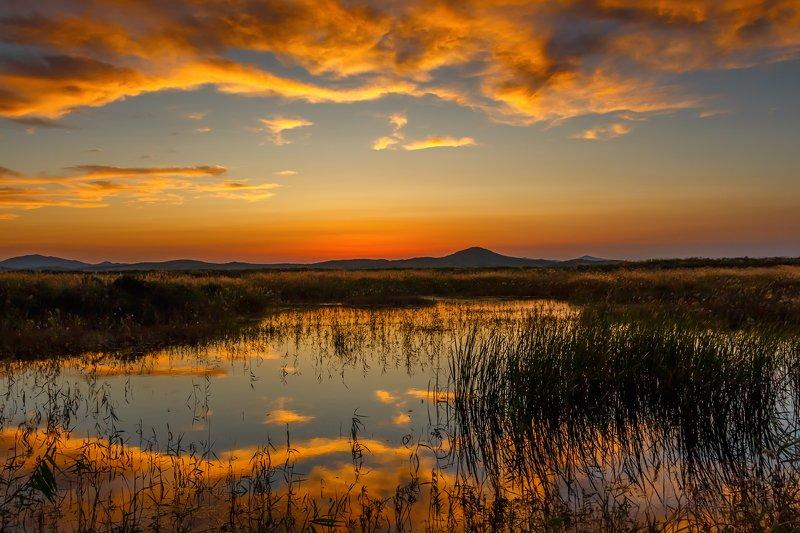Приморский край, пейзаж Пламени заката..photo preview
