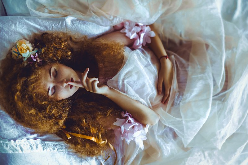 woman, portrait, indoors, art, conceptual, natural light Listen to silence. It has so much to sayphoto preview