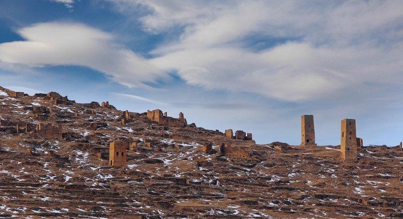 горы,башни,аул,гоор,вершины,пейзаж,небо,деревья,дагестан,природа Старый Гоор..photo preview