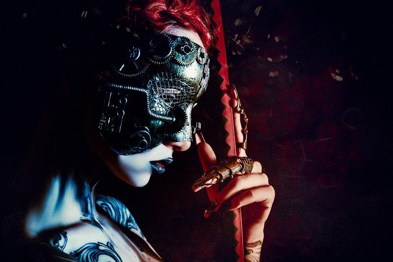 woman, portrait, conceptual, studio, cyberpunk The future is herephoto preview