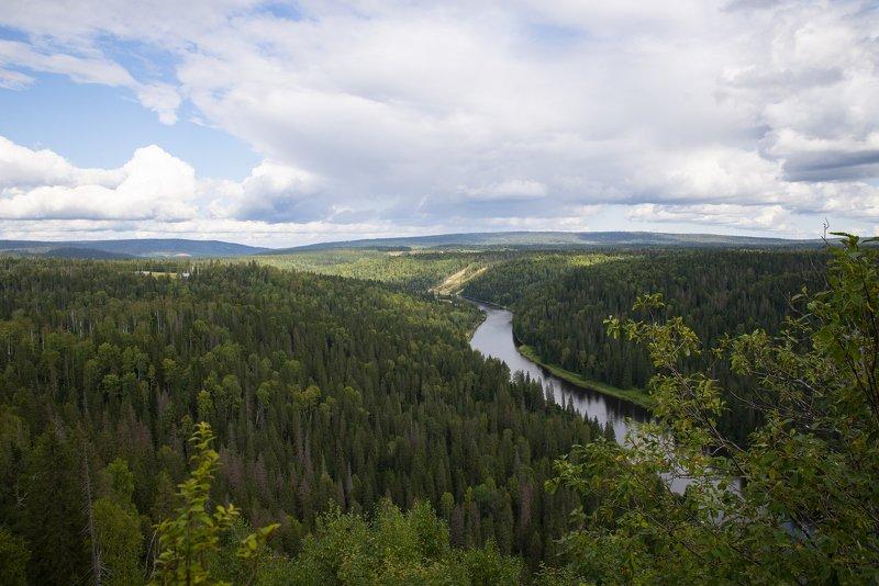 Просторы Пермского края, река Усьва