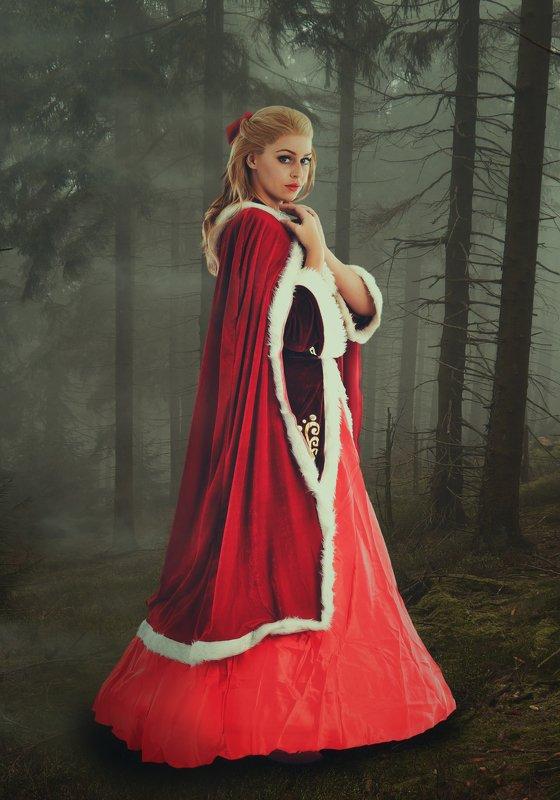 девушка, лес, туман *****photo preview