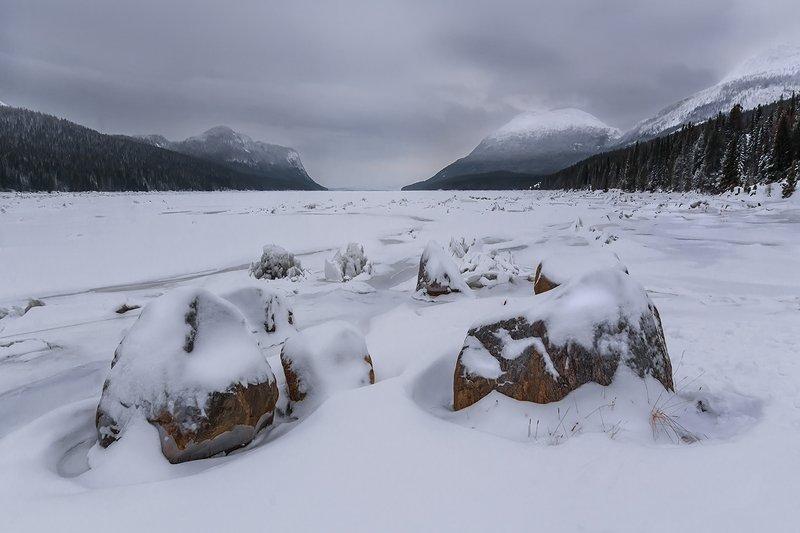 природа, пейзаж, горы, север, природа россии, дикая природа, зима, кольский, море, снег Скованный льдом Беломорский залив.photo preview