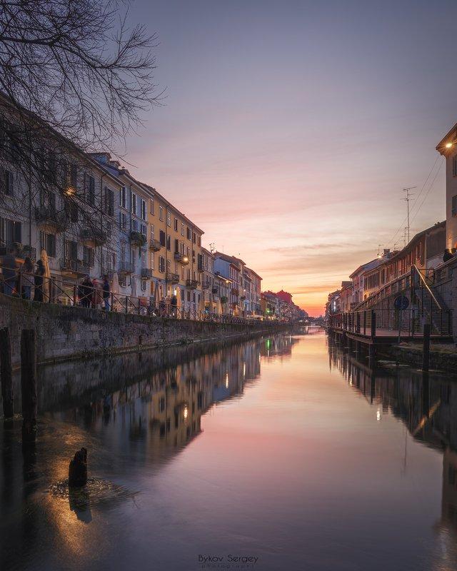 Закат  в  Миланеphoto preview