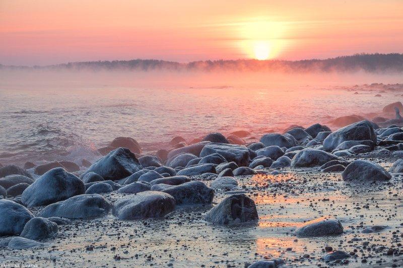 пейзаж, рассвет, море, зима Парящее мореphoto preview