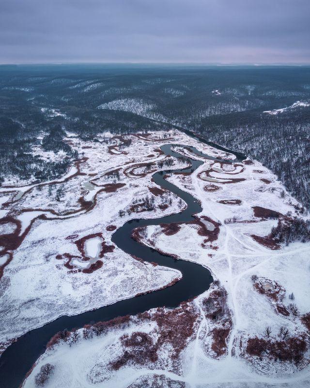 украина, река, зима, mavic Змеиная река.photo preview