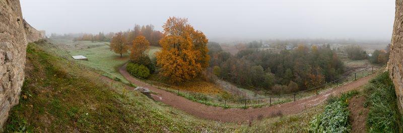 Изборс, Псков, осень, мороз, природа, крепость Осенний Изборскphoto preview