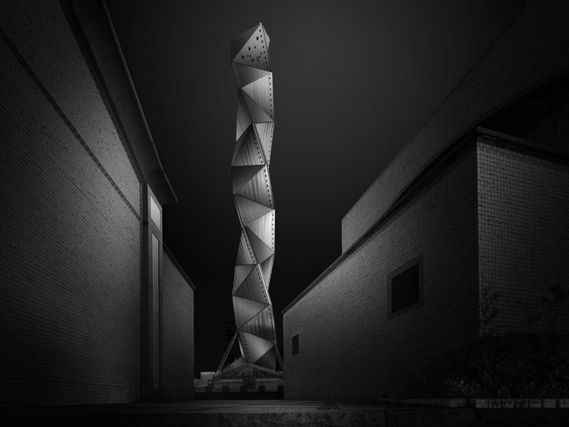 city, architecture Mito Art Towerphoto preview