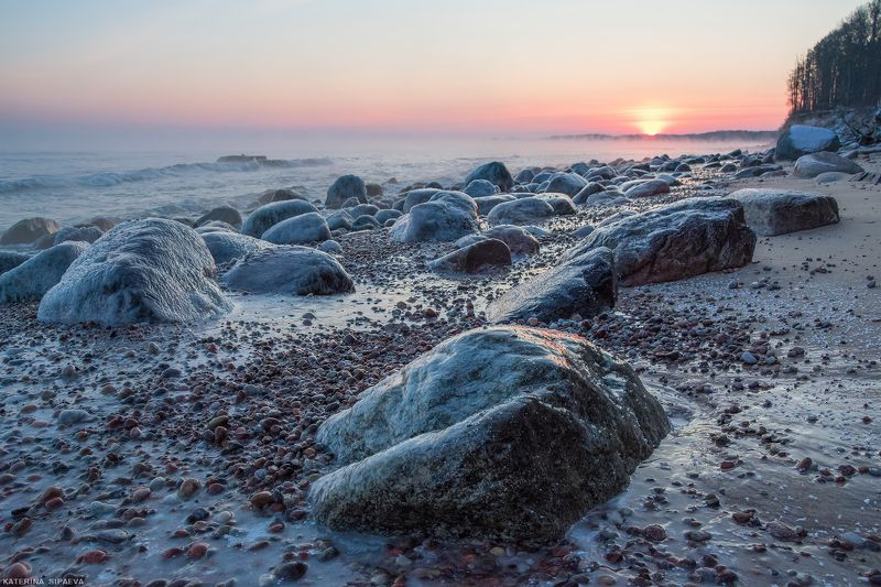 пейзаж, рассвет, море, зима Моменты зимнего рассветаphoto preview