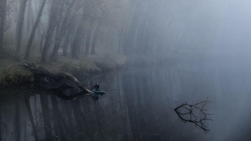 украина, коростышев, природа, река тетерев, тишина, туман, уединение, рыбак, счастье, жизнь, вдохновение, отражение, фотограф, чорный, \