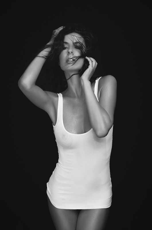 model, fine art, sexy, sensual, black and white, woman, female, body, erotica, glamour, curves, portrait, beautiful, fashion, portrait, hair, Katephoto preview
