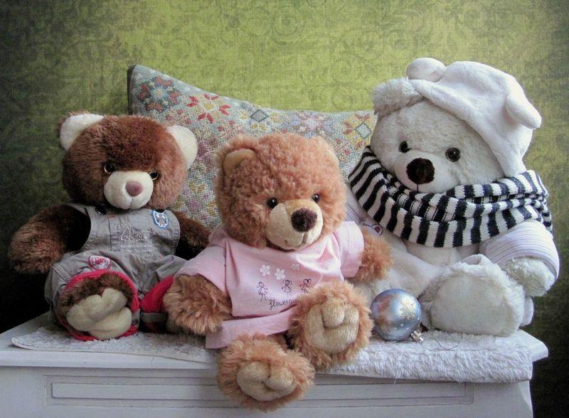 игрушки, медведи, няшки, подушка, елочный шар Хорошо сидимphoto preview