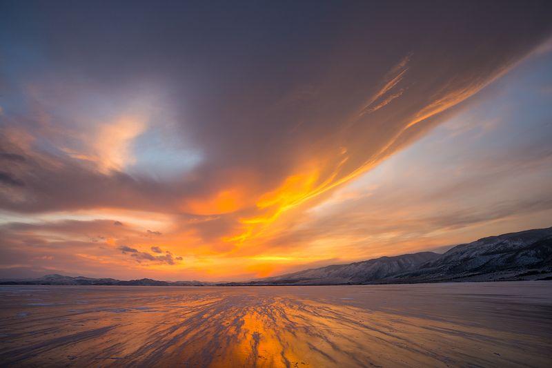 зима, лед, байкал, малое море Унесённые ветромphoto preview