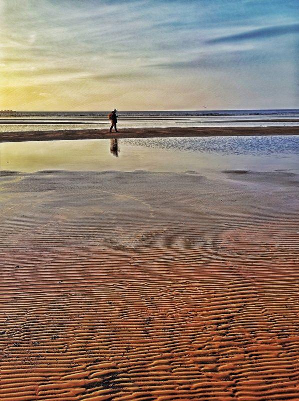 закат, залив, спб, питер, море, пляж Отлив на Финском заливе.photo preview