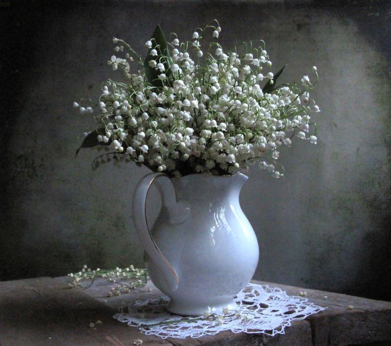 цветы, букет, ландыши Вечерние ландышиphoto preview