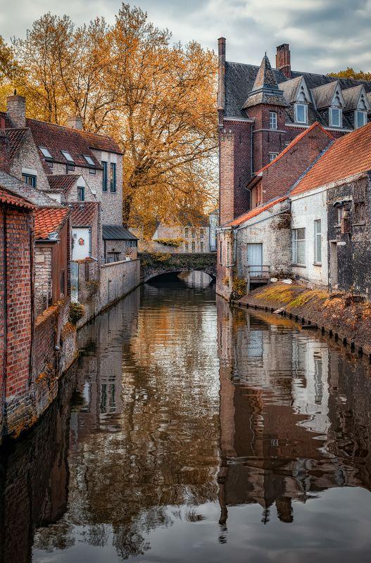 канал, город, отражения canal bridgephoto preview