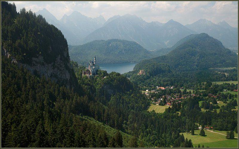 германия, альпы, бавария, горы, замки, нойшванштайн, хоэншвангау, озеро, альпзее, лето, июль Потише! Сказка начинается...photo preview