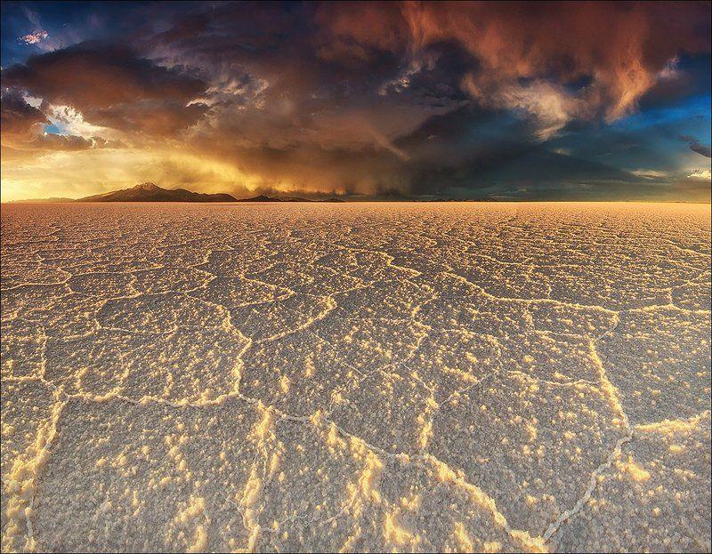 Altiplano, Bolivia, Salar de uyuni, Sunset, Альтиплано, Боливия, Гроза, Закат, Латинская америка ***photo preview