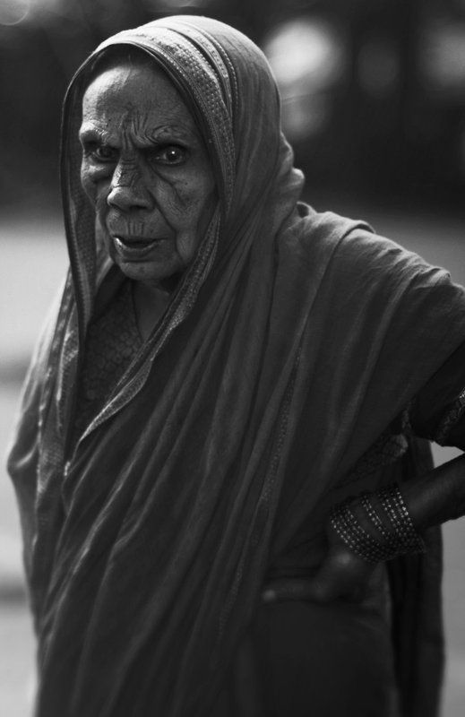 Black & white, Head scarf, India, People, Portrait Indian facesphoto preview