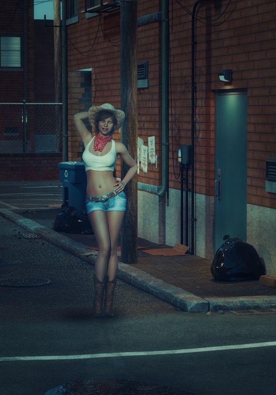 девушка, улица *****photo preview