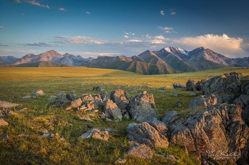 казахстан, горы тянь-шань, хребет кунгей алатау, плато табан-карагай, август 2014 северные склоны... южных горphoto preview