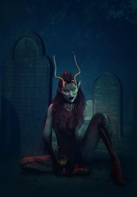 демонесса, кладбище *****photo preview