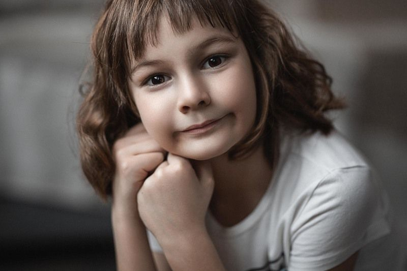 девочка, портрет, фотосессия, студия, girl, beauty, perfect, pretty, young, portrait, творческий портрет, детский портрет, young girl, дети, children, детская фотография, детская фотосессия Ксюшаphoto preview