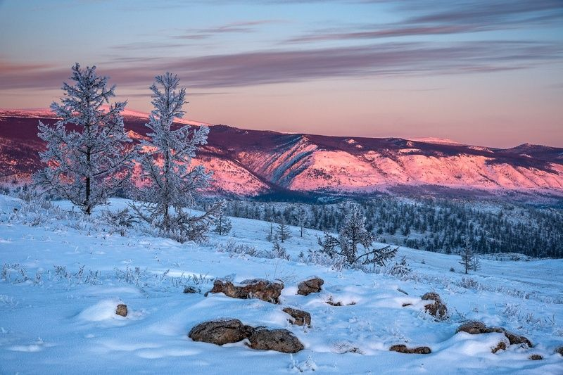 зима, снег, горы, тажеранская степь На пути к Байкалуphoto preview
