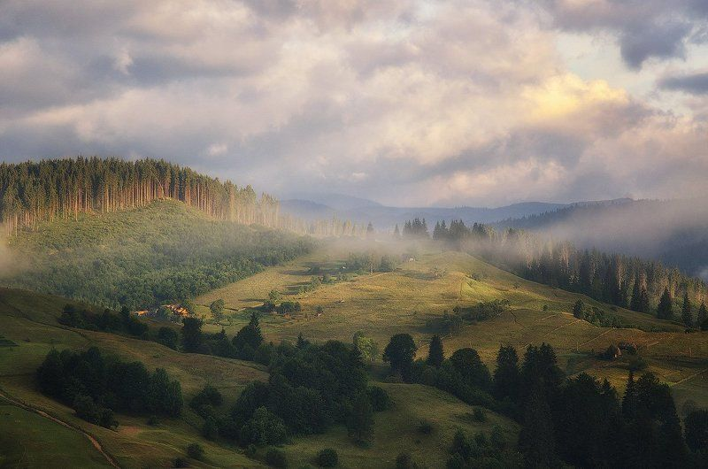 Горы, Карпаты, Ч. Тиса Позднее утроphoto preview